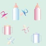 Elementos del bebé Foto de archivo libre de regalías