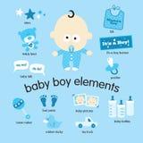 Elementos del bebé Foto de archivo