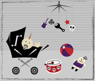 Elementos del bebé del punk rock Imagen de archivo libre de regalías