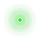 Elementos del círculo concéntrico de la pantalla de radar Ejemplo del vector para la onda acústica  Blanco de la vuelta del círcu ilustración del vector