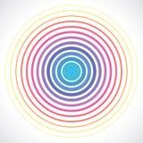 Elementos del círculo concéntrico Ejemplo del vector para el sonido stock de ilustración