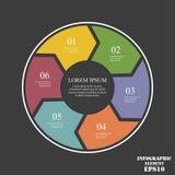 Elementos del círculo para infographic Concepto del negocio con 6 opciones, porciones, pasos o procesos libre illustration