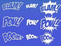 Elementos del cómic Imagen de archivo