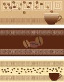 Elementos del café Stock de ilustración