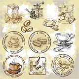 Elementos del café del vector Foto de archivo libre de regalías