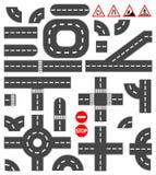 Elementos del camino Imagenes de archivo