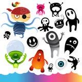 Elementos del carácter del monstruo Imágenes de archivo libres de regalías