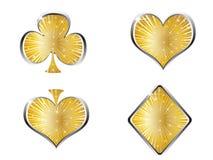 Elementos del casino Imagen de archivo libre de regalías