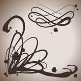 Elementos del chapoteo de la tinta de la elegancia del Grunge para el diseño Fotografía de archivo libre de regalías