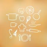 Elementos del cocinero Imágenes de archivo libres de regalías