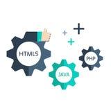 Elementos del desarrollo web Imagen de archivo