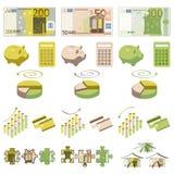 Elementos del dinero y del infographics Libre Illustration