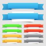 Elementos del diseño: banderas Imagen de archivo libre de regalías