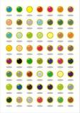 Elementos del diseño, botones del vector Fotos de archivo libres de regalías