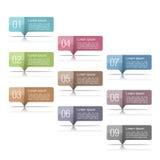 Elementos del diseño con números Foto de archivo libre de regalías