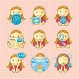 Elementos del diseño: conjunto de iconos ilustración del vector