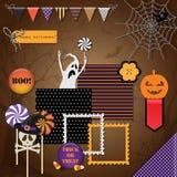 Elementos del diseño de Halloween ilustración del vector