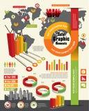 Elementos del diseño de Infographic Fotografía de archivo libre de regalías