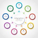 Elementos del diseño de Infographic para sus datos de negocio con 9 opciones ilustración del vector