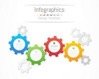 Elementos del diseño de Infographic para sus datos de negocio con 4 opciones ilustración del vector