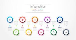 Elementos del diseño de Infographic para sus datos de negocio con 10 opciones stock de ilustración