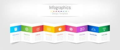 Elementos del diseño de Infographic para sus datos de negocio con 9 opciones stock de ilustración