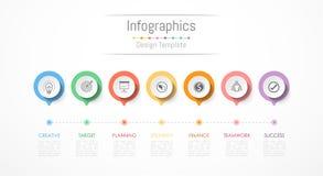 Elementos del diseño de Infographic para sus datos de negocio con 7 opciones stock de ilustración