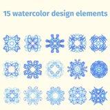 Elementos del diseño de la acuarela Fotos de archivo