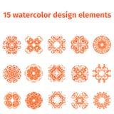 Elementos del diseño de la acuarela Imagen de archivo libre de regalías