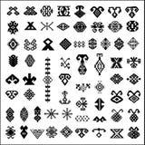 Elementos del diseño de la alfombra Imagen de archivo libre de regalías