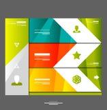 Elementos del diseño de la bandera de Infographic Fotos de archivo
