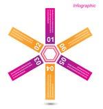 Elementos del diseño de la bandera de Infographic Fotografía de archivo