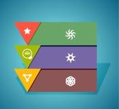 Elementos del diseño de la bandera de Infographic, numerados listas Foto de archivo libre de regalías