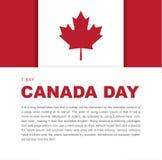 Elementos del diseño de la bandera para el día de Canadá el 1 de julio Foto de archivo libre de regalías