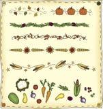 Elementos del diseño de la cosecha Foto de archivo