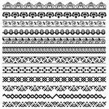 Elementos del diseño de la decoración de la frontera Fotografía de archivo