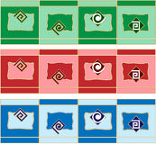 Elementos del diseño de la decoración de la frontera Foto de archivo