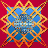 Elementos del diseño de la decoración de la frontera del vector Fotografía de archivo
