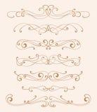 Elementos del diseño de la elegancia Imagen de archivo libre de regalías