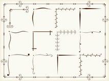 Elementos del diseño de la esquina de la vendimia ilustración del vector