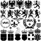 Elementos del diseño de la heráldica Imagen de archivo