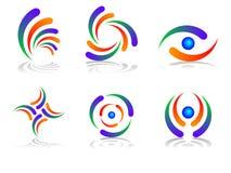 Elementos del diseño de la insignia Imagenes de archivo