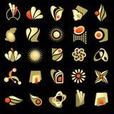Elementos del diseño de la insignia Fotografía de archivo libre de regalías