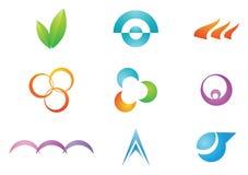 Elementos del diseño de la insignia ilustración del vector