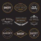 Elementos del diseño de la insignia de la panadería Foto de archivo libre de regalías