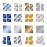 Elementos del diseño de la insignia del metal ilustración del vector