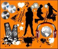 Elementos del diseño de la música. Stock de ilustración