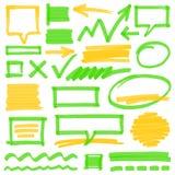 Elementos del diseño de la marca del Highlighter stock de ilustración