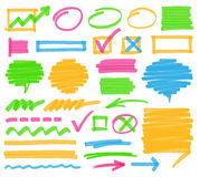 Elementos del diseño de la marca del Highlighter ilustración del vector