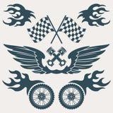 Elementos del diseño de la motocicleta Imágenes de archivo libres de regalías